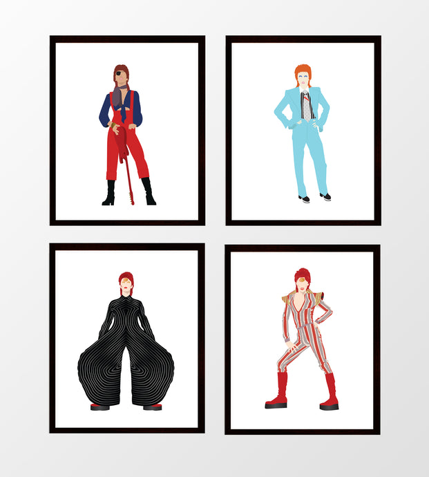 David Bowie Set of Four