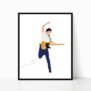 Bruce Springsteen Print - Born in the USA - Poster Art by Poppermost Prints