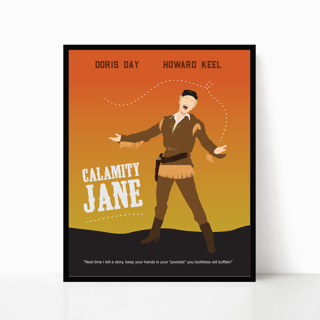 Calamity Jane Poster - Doris Day - Alternative Poster by Poppermost Prints