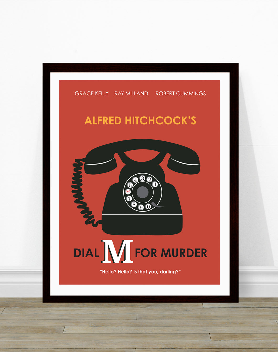 Dial M for Murder Minimalist Movie Poster