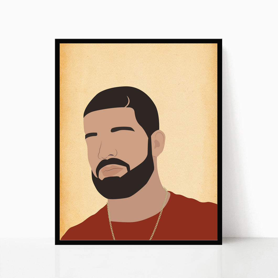 Drake Print Hip Hop Poster by Poppermost Prints