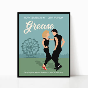 Grease Minimalist Movie Poster