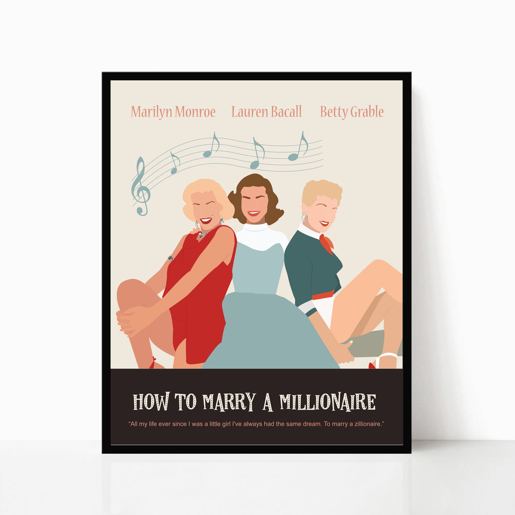 How to marry a Millionaire - Poster Art