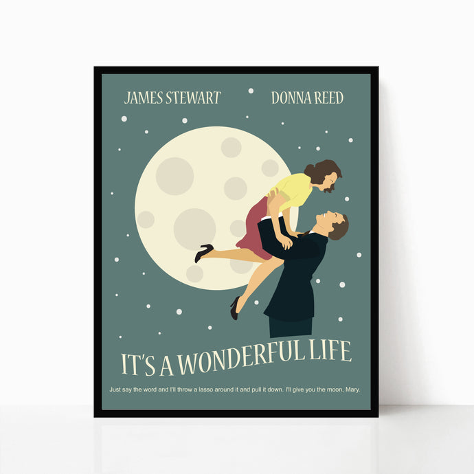 It's a Wonderful Life Minimalist Movie Poster