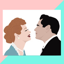 I love Lucy Print - Lucy and Ricky