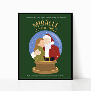Miracle on 34th Street Minimalist Movie Poster