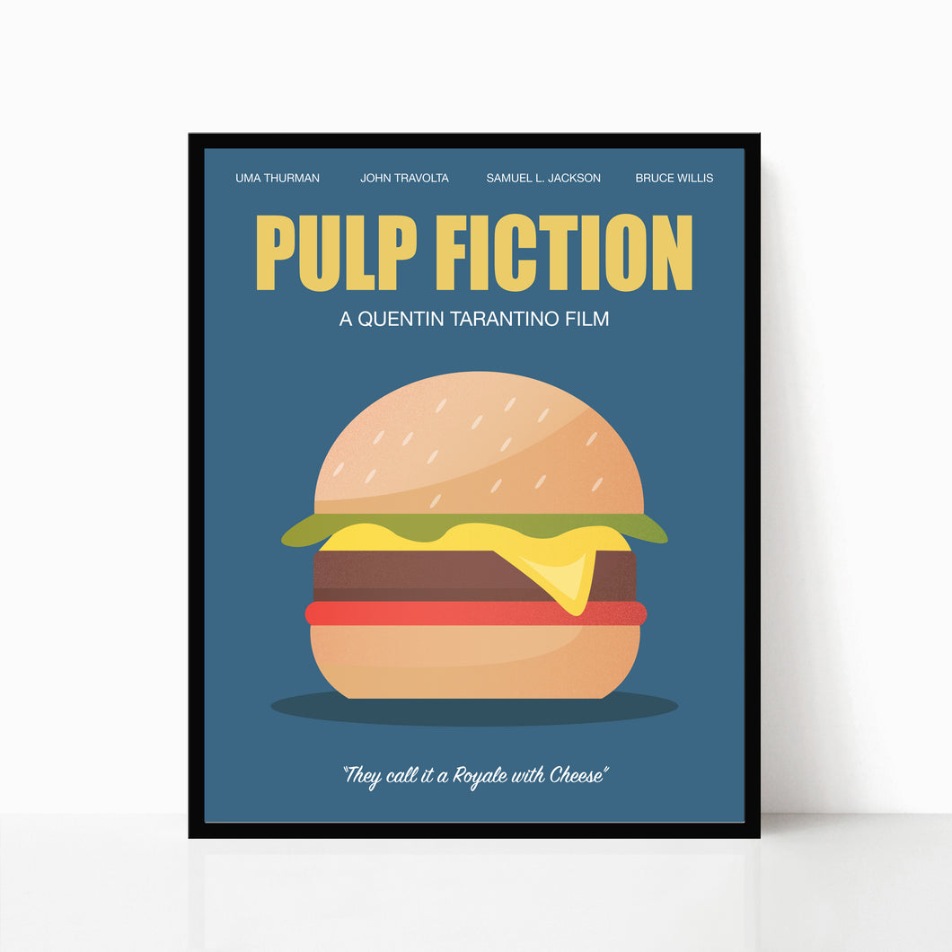 Pulp Fiction Poster - Royale with Cheese