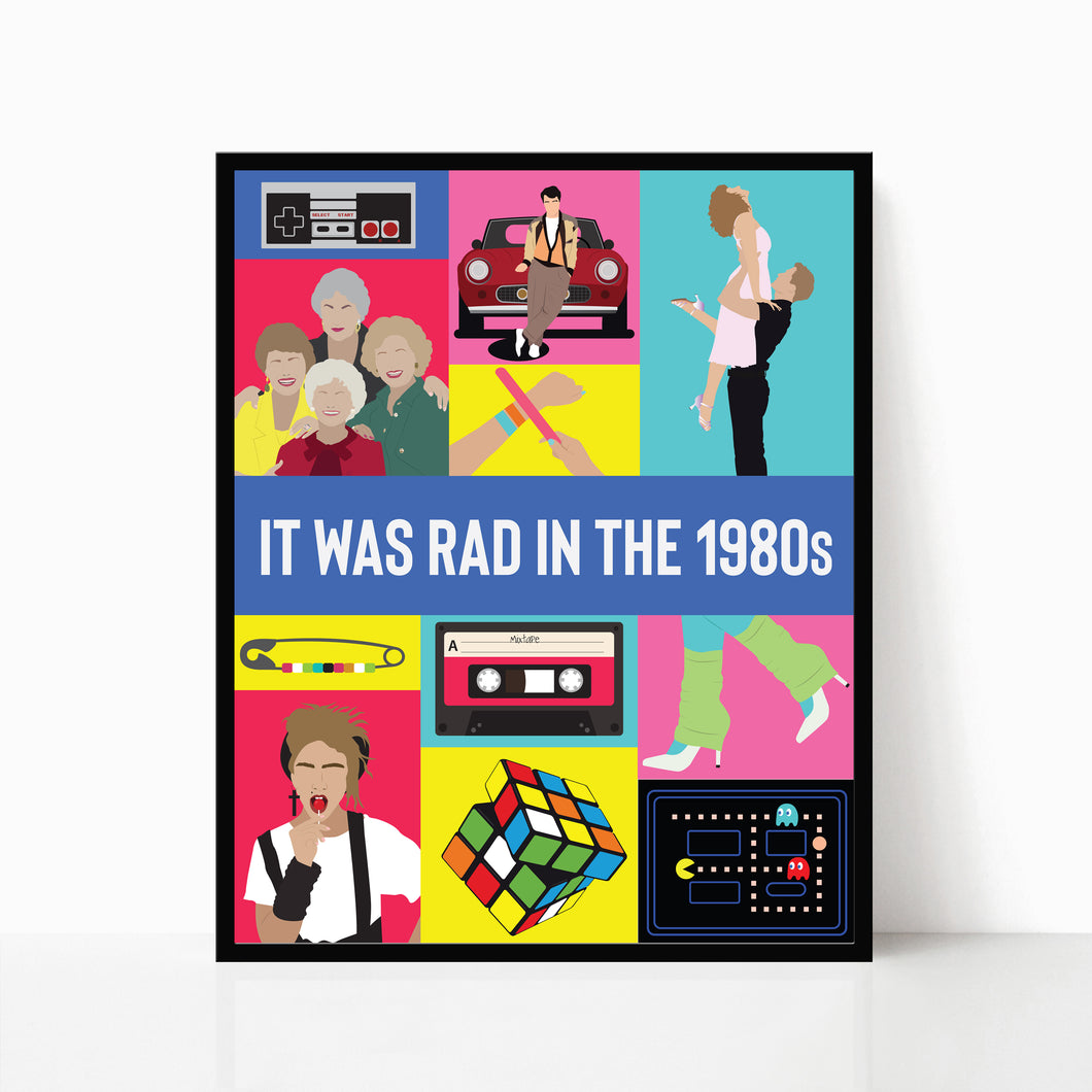 It was Rad in the 1980s Poster