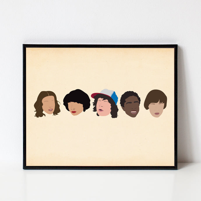 Stranger Things Minimalist Print