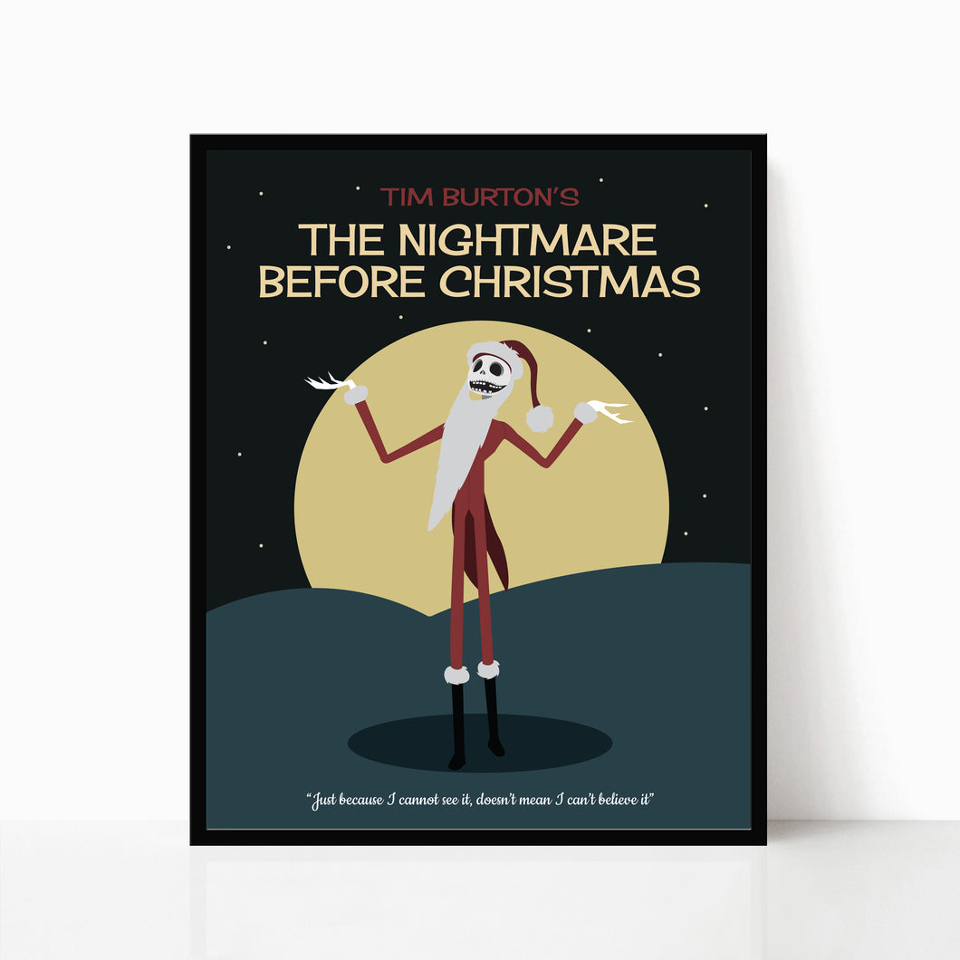 The Nightmare Before Christmas Minimalist Print