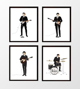 Beatles Prints, Set of Four 1964