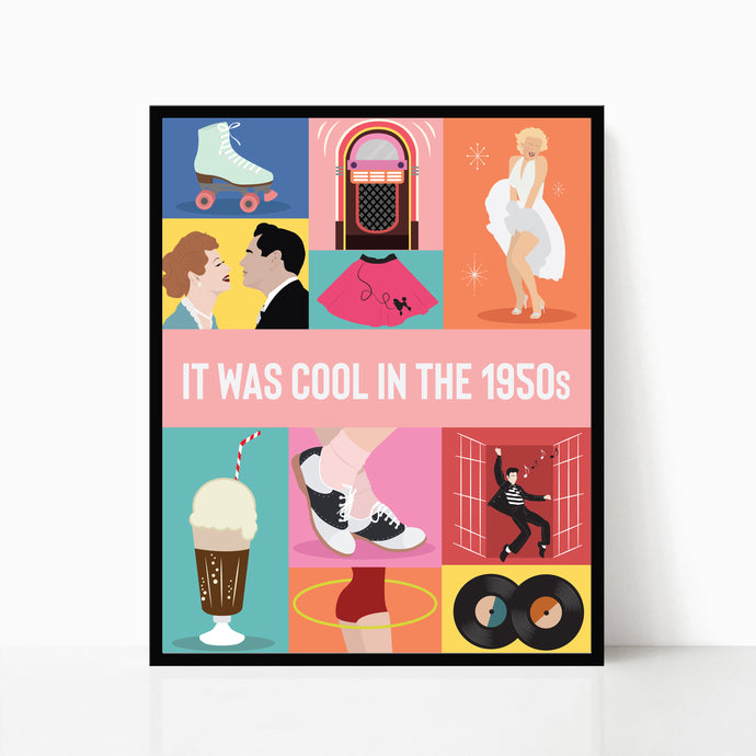 1950s poster - it was cool in the 1950s