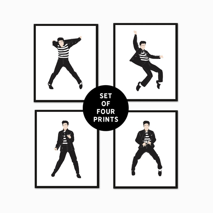 Elvis Presley Set of Four Jailhouse Rock Prints