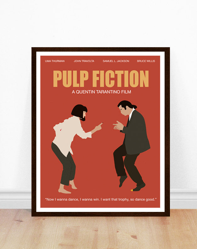 pulp fiction minimalist movie poster poppermost prints