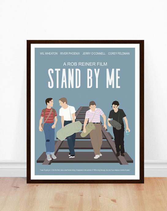 Stand by Me Minimalist Movie Poster