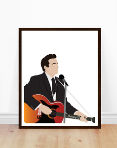 Johnny Cash  Minimalist Print