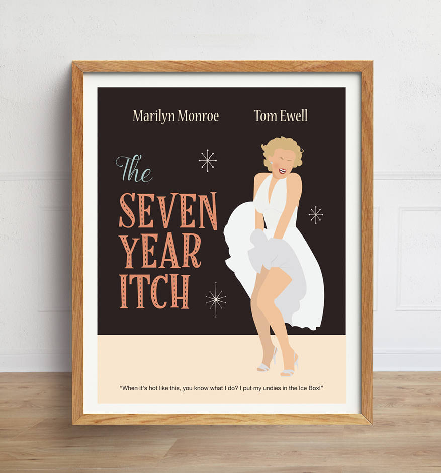 Seven Year Itch Minimalist Movie Poster