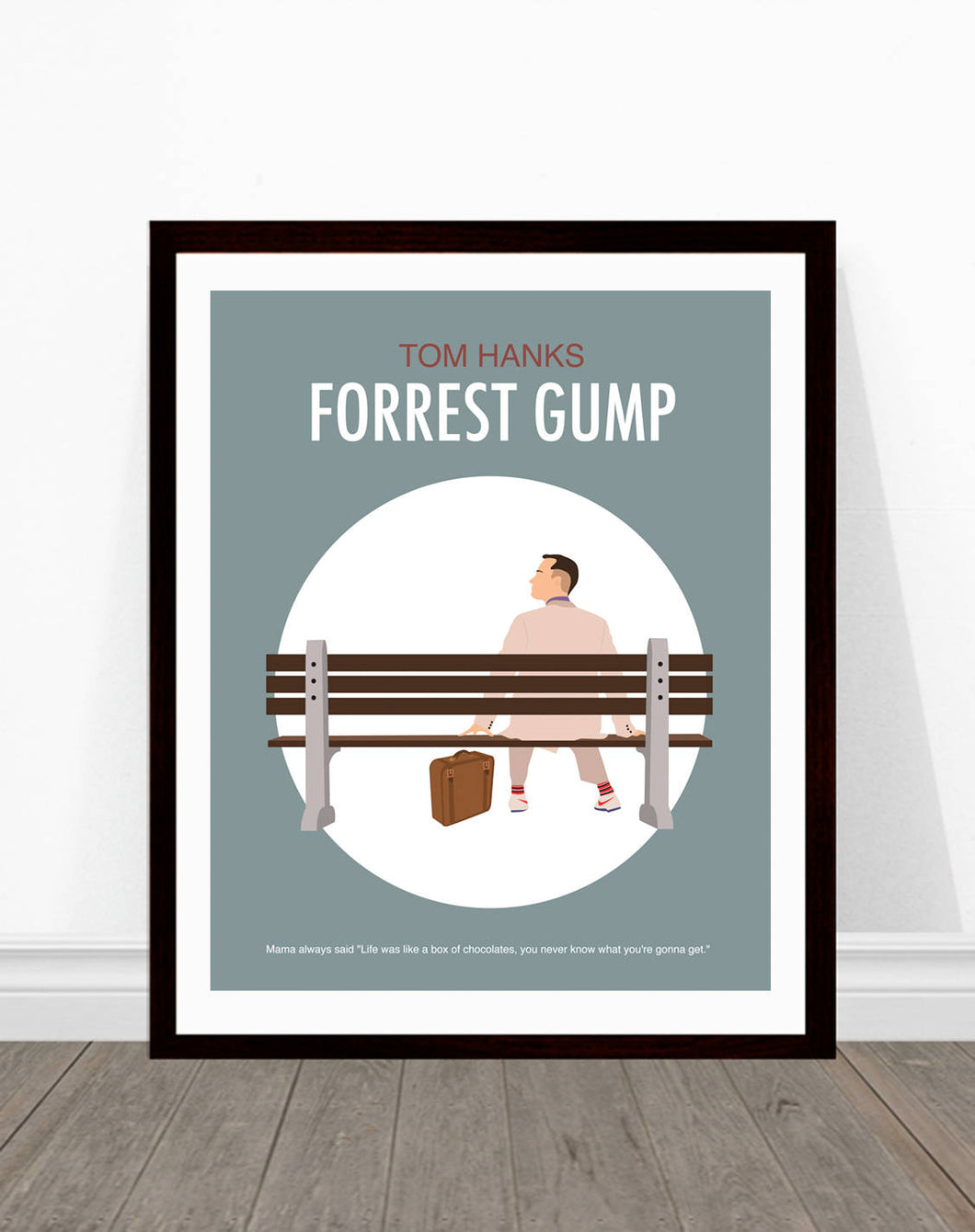 Forrest Gump Minimalist Movie Poster,