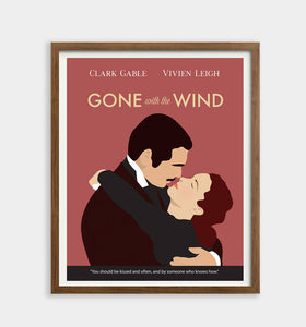 Gone with the Wind Minimalist Movie Poster
