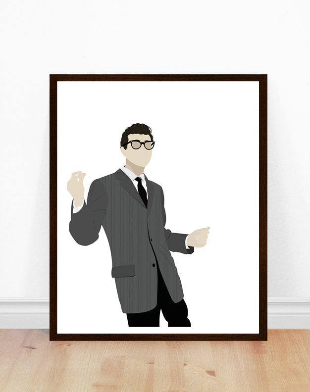 Buddy Holly Minimalist Art Print