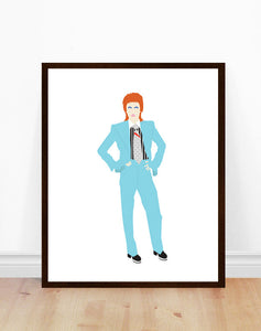 David Bowie Minimalist Print - Life on Mars
