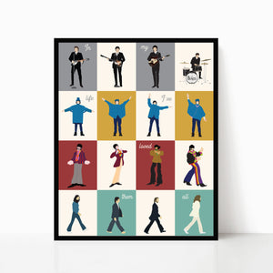 The Beatles Print - Beatles In My Life