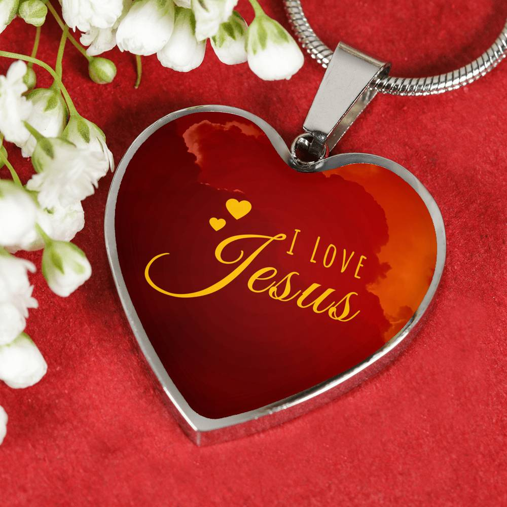 I Love Jesus - Heart Necklace