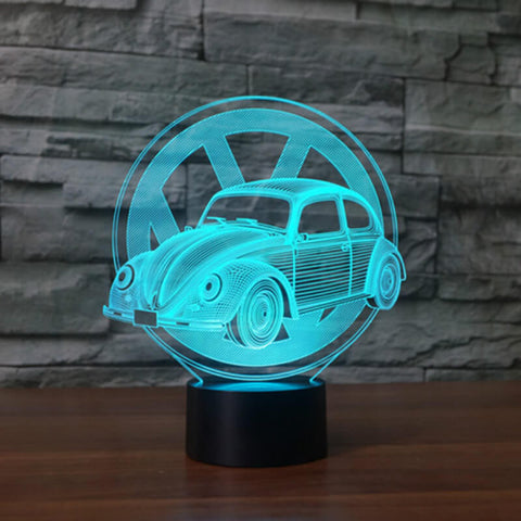 Image of Beetle Series 3D Table Lamp 7 Color