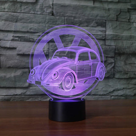 Beetle Series 3D Table Lamp 7 Color