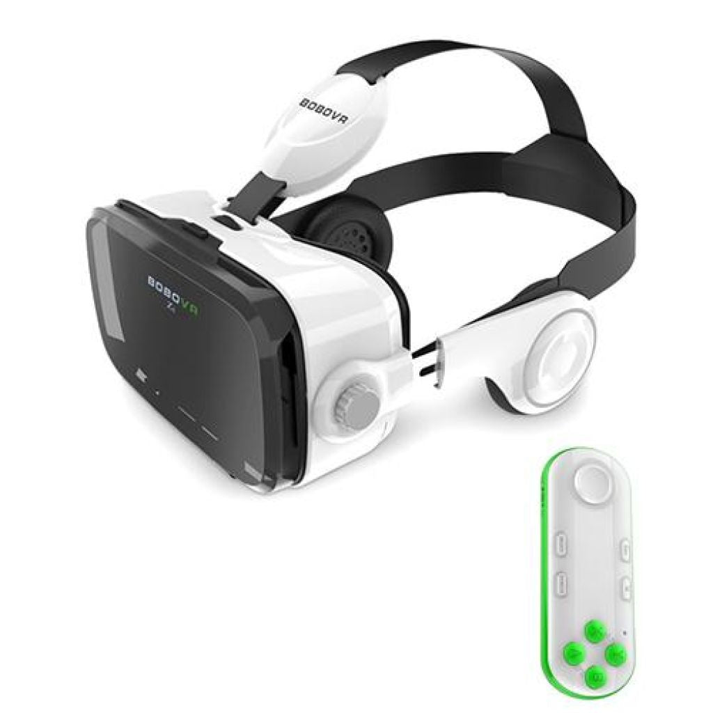 Cardboard Leather 3D Helmet Virtual Reality Vr Glasses Headset Stereo Box China / Z4 051White Remote