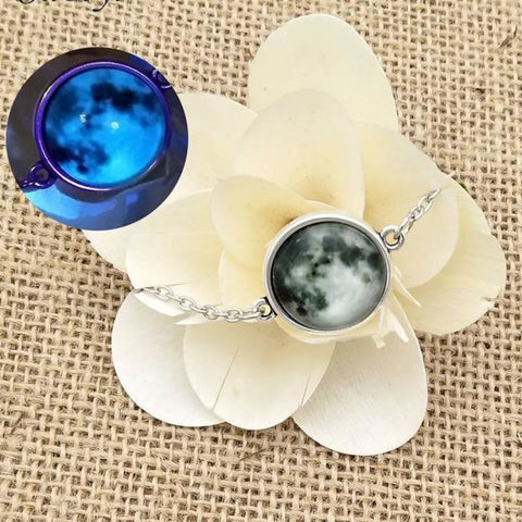 Image of Elegant Glow In The Dark Full Moon Bracelet