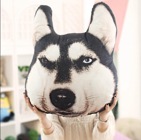 Dog Pattern Pillow (Husky-Akita-Samoyed-Alaska)