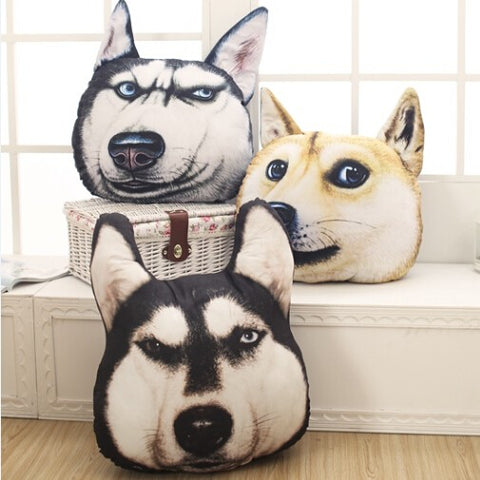 Image of Dog Pattern Pillow (Husky-Akita-Samoyed-Alaska)