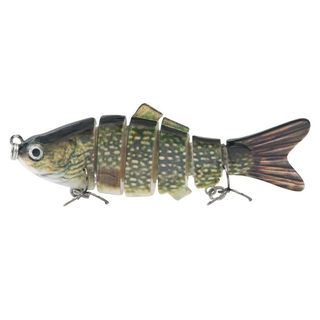Piscifun Fishing Lure 3D Eyes 6-Segment Lifelike Fishing