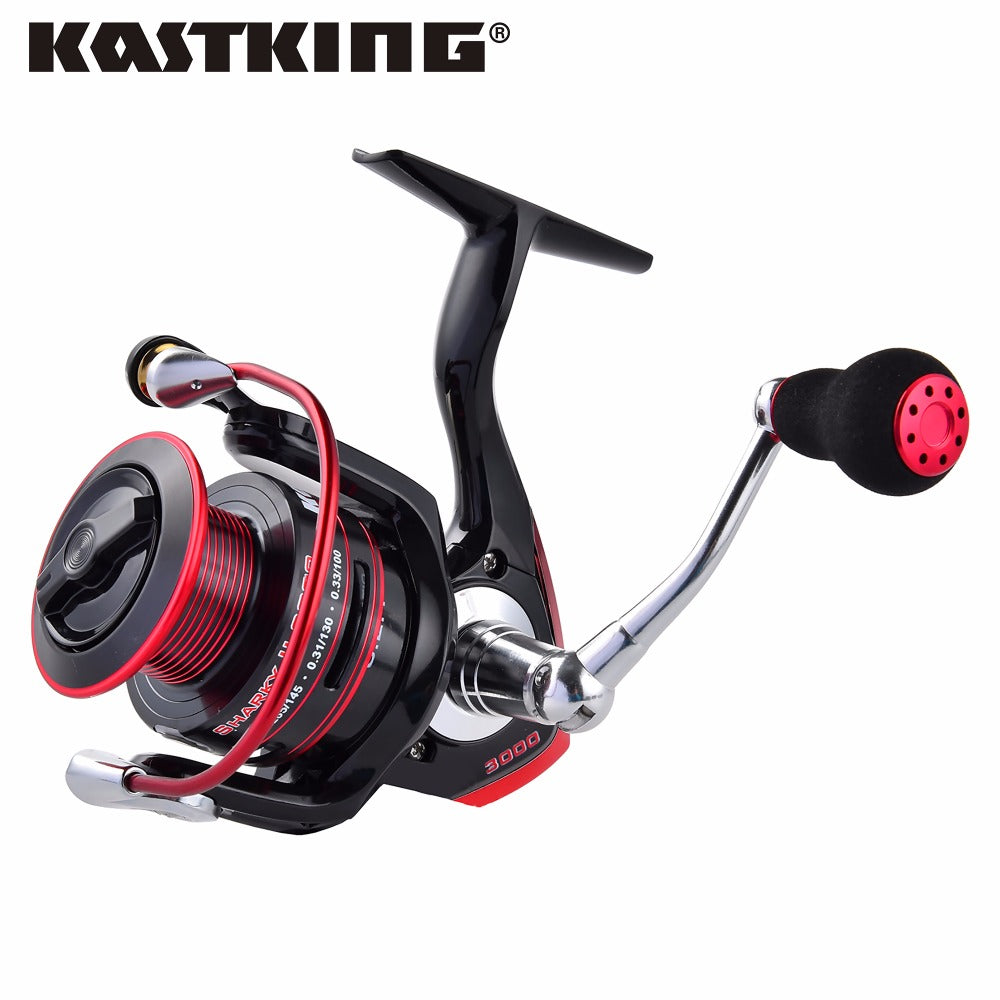 Water Resistant Carbon Drag Spinning Reel with Large Spool