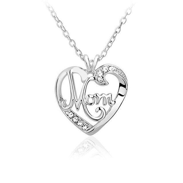 Mom heart crystal pendant necklace hobby club store mom heart crystal pendant necklace aloadofball Gallery