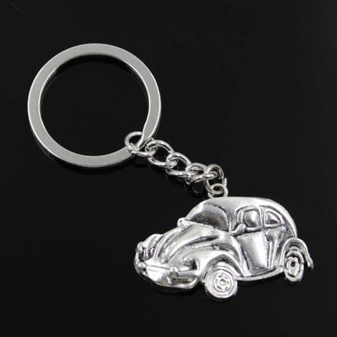 Image of VW Beetle Keychain silver