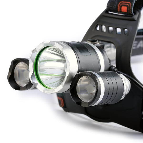 Headlamp LED 13000 LM Rechargeable Battery