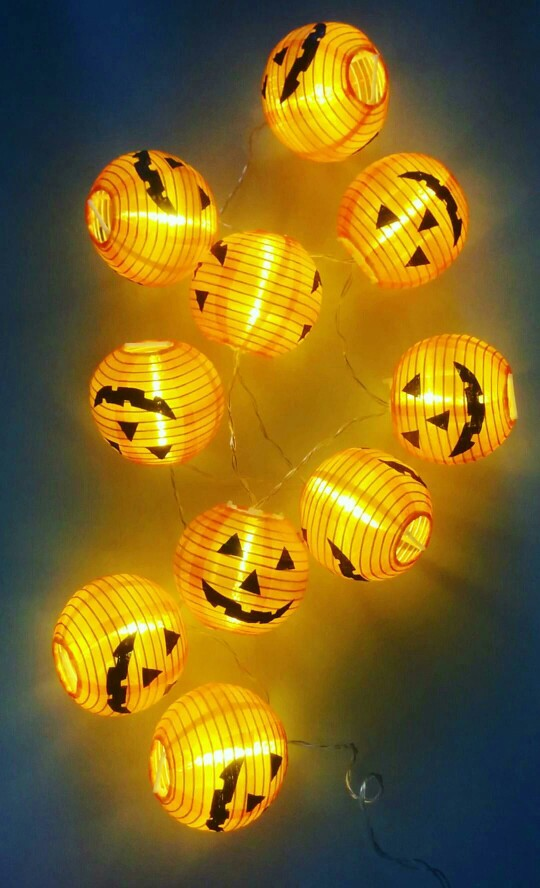 Pumpkin LED String Lights - HALLOWEEN DECORATION