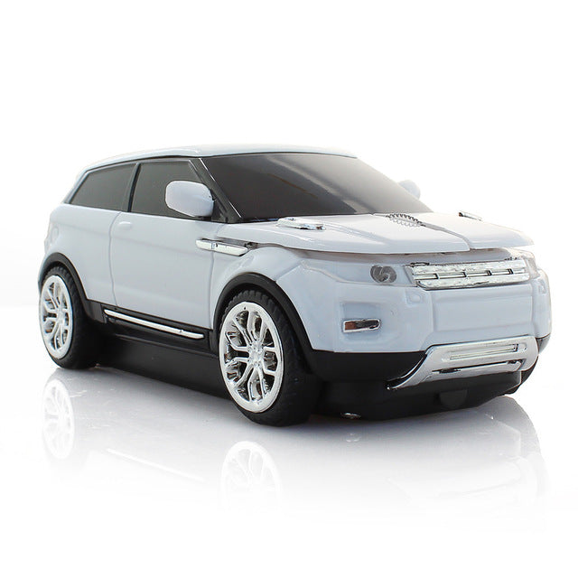 White Sport Car Mouse