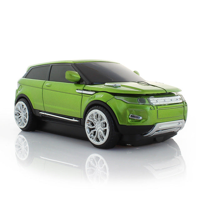 Green Sport Car Mouse