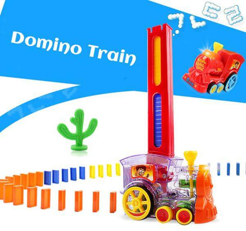 Image of Domino Laying Chew Train Toy