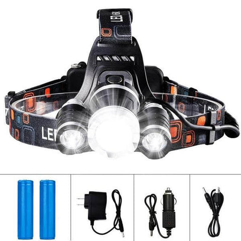 Image of Headlamp LED 13000 LM Rechargeable Battery