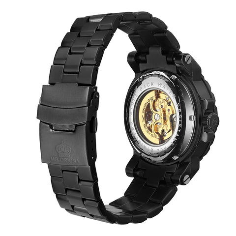 Elegant Golden Skeleton Wrist Watch (PREMIUM EDITION)