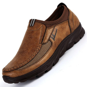 Leather Loafers Slip-on Shoes