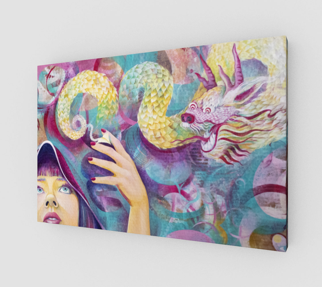 catch a dragon by the tale (canvas print)