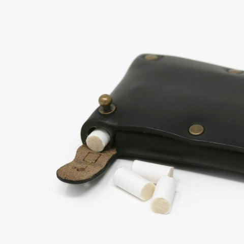 Leather Dugout - Typewriter Black