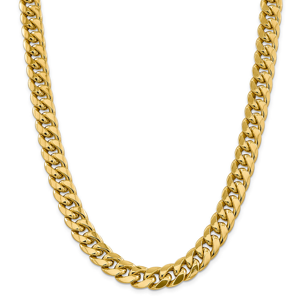 12.6mm 14K Gold Miami Cuban