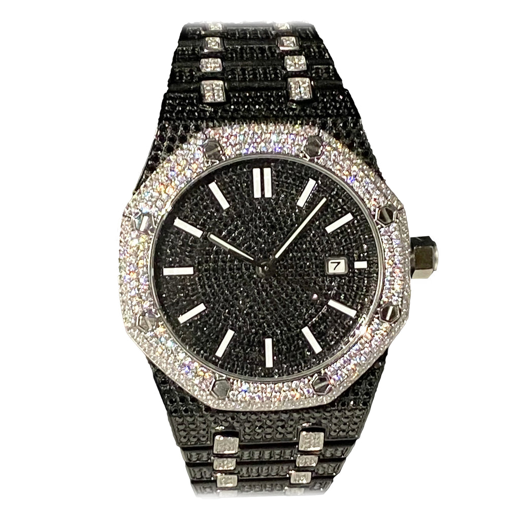Limited Edition Black Iced Out Royal Watch
