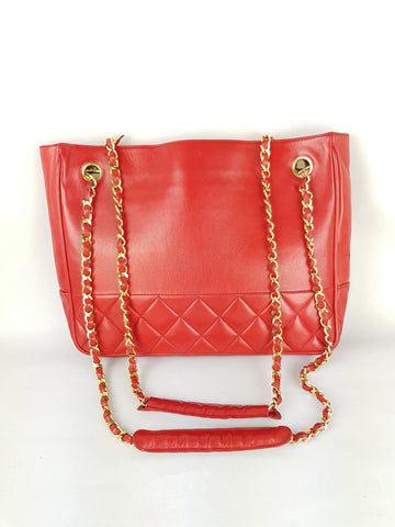 Luxury Designer Chanel vintage red bag